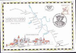 Österreich Austria Autriche - 500 Jahre Postverbindungen (MiNr: 1978) 1990 - FDC (C5-Karte) - FDC