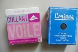 Neuf - Lot De 2 Paires De Collants Monoprix Voile Lycra Gris 15 D Taille 2 - Accessories