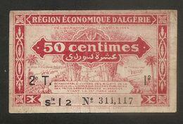 Algeria - Banconota Da 50 Centesimi P-100 - 1944 # 17 - Argelia