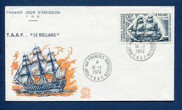 Terres Australes Et Antarctiques Françaises - TAAF - Premier Jour - FDC - Le Rolland - 1974 - FDC