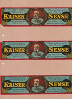 """Werbung / """"Kaiser-Sende"""" 3x Auf Blatt (A4) (A690-20H) - Publicidad"""