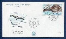 Terres Australes Et Antarctiques Françaises - TAAF - Premier Jour - FDC - Albatros Fuligineux - 1978 - FDC