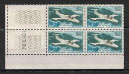 TIMBRE POSTE AÉRIENNE PA N° 39 NEUF ** En BLOC De 4 Avec COIN DATÉ Du 16-10-64 (1964) - Poste Aérienne