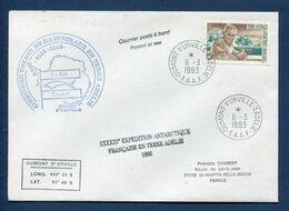 Terres Australes Et Antarctiques Françaises - TAAF - Premier Jour - FDC - Navire Polaire L'Astrolabe - 1993 - FDC