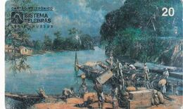 BRAZIL(Sistema Telebras) - Painting/Carga De Moncoes, Museu Paulista De Sao Paulo, 10/96, Used - Pittura