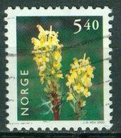 Bm Norway 2000 MiNr 1337 Used | Flowers. Oeder's Lousewort - Gebraucht