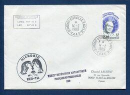 Terres Australes Et Antarctiques Françaises - TAAF - Premier Jour - FDC - Microbio - 1989 - FDC