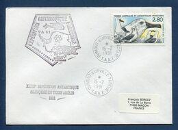 Terres Australes Et Antarctiques Françaises - TAAF - Premier Jour - FDC - Dumont D'Urville - 1991 - FDC