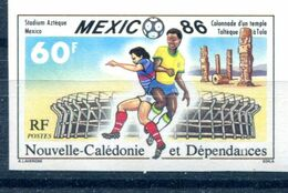 Soccer World Cup 1986 Imperf French New Caledonia Set Of 1 Non Dentele Football MNH**VF - World Cup