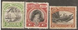 Niue  1944  SG 88-91  1/2d, 1d, 2d,   Mounted Mint - Niue