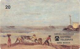 BRAZIL(Sistema Telebras) - Painting/Marinha, Museu Castro Maya, 08/96, Used - Pittura