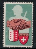 Suisse /Schweiz/Switzerland // Vignette Militaire // Union Des Mobilisés UDM Valais - Poste Militaire