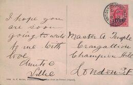 TURQUIE - BUREAU ANGLAIS - BRITISH POST OFFICE CONSTANTINOPLE - LE 18 MAI 1910 POUR LONDRES. - British Levant