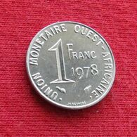 West African States 1 Franc 1978 KM# 8 Western African States Afrique Afrika Ocidental Oeste - Coins