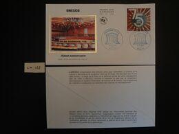 """FRANCE 2020 1,40 """" UNESCO 75 ANS 1945 - 2020 """", OBLITERATION PREMIER JOUR 11 09 2020  ENVELOPPE F.D.C. - 2010-...."""