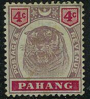 MALAYA PAHANG 1899 QV 4c Tiger SG 15 No Gum - Pahang