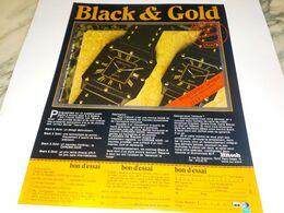 ANCIENNE PUBLICITE BLACK ET GOLD  1984 - Jewels & Clocks