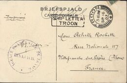 Maritime Lettre Bateau Troon CAD Troon 3 15 PM SP 16 07 + Ship Letter Troon Cachet Agence Consulaire De France Reykjavik - 1873-1918 Dependencia Danesa