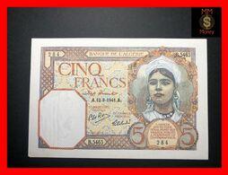 Algeria  5 Francs 12.9.1941  P. 77   XF \ AU   [MM-Money] - Algeria