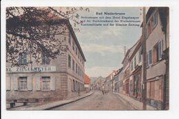 CP 67 BAD NIEDERBRONN Steinstrasse Mit Dem Hotel Ziegelmeyer - Niederbronn Les Bains