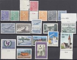 FINNLAND 19 Briefmarken, Postfrisch **, Aus 1963-1974, U.a. Mit 588 X - Collections