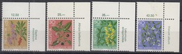 SCHWEIZ 1042-1045, Postfrisch **, Mit Pflanzennamen, Pro Juventute 1974 - Unused Stamps