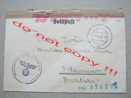 Croatia, NDH, WW2 / FELDPOST NR. 57364F - Geöffnet ! ( To Zemun 1943. ) - Croatia