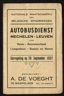 1937 - NMBS - Autobusdienst - Mechelen - Leuven - Hever - Boortmeerbeek - Campenhout - Bueken En Herent - 2 Scans - Europa