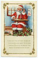 Le Père Noël Répond Au Téléphone. Guirlande De Houx. - Non Classés