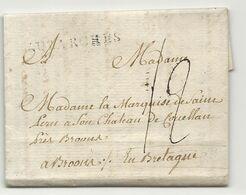 Seine Et Oise - LUZARCHES Pour La Marquise De St PERN Au Chateau De COUELLAN Près BROONS. GUILLOTINE/ REVOLUTION - 1701-1800: Precursors XVIII