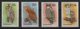 Zimbabwe - N°274 à 277 - Faune - Chouettes - Cote 15€ - * Neufs Avec Trace De Charniere - Zimbabwe (1980-...)