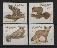 Zimbabwe - N°246 à 249 - Faune - Petits Mammiferes - Cote 5€ - * Neufs Avec Trace De Charniere - Zimbabwe (1980-...)