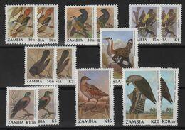 Zambie - N°510 à 517 + 530 à 535 - Faune - Oiseaux - Cote 16€ - * Neufs Avec Trace De Charniere - Zambie (1965-...)