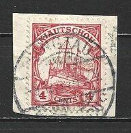 1909 KIAUTSCHOU 4C. DEFINITIVE MICHEL: 30 USED ON PAPER - Colonie: Kiautchou