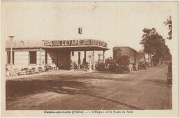 Cosne-sur-Loire- L'Etape Et La Route De Paris- Station D'essence- Camions-  (D.8909) - Cosne Cours Sur Loire