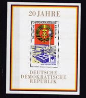 20 Jahre DDR, Block ** - [6] Democratic Republic