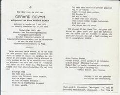 Gerard Bovyn (1910-1978) ~ Oudstrijder (1940-1945) - Santini