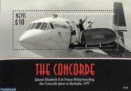 Nevis 2018 Concorde S/s, (Mint NH), Aircraft & Aviation - Concorde - Concorde