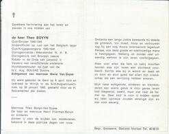 Theo Bovyn (1913-1982) ~ Oudstrijder (1940-1945) - Santini