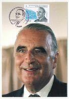 FRANCE - Carte Maximum - 0,58E Président Georges POMPIDOU - Premier Jour PARIS - 22/6/2011 - Cartoline Maximum