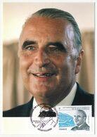 FRANCE - Carte Maximum - 0,58E Président Georges POMPIDOU - Premier Jour ORVILLIERS - 22/6/2011 - Cartoline Maximum