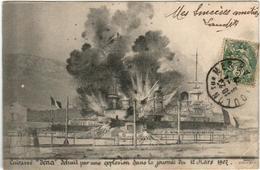 51dh 418 CPA - TOULON -  CUIRASSE IENA DETRUIT PAR UNE EXPLOSION - Toulon