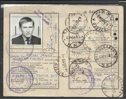 Hungary, Railroad  Season Ticket For Students, Szeged-Békéscsaba, 1967-1968. - Week-en Maandabonnementen