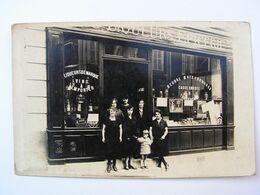 CPA CARTE PHOTO PARIS ? A IDENTIFIER EPICERIE LIQUEUR CAFE  REF B88 - Bar, Alberghi, Ristoranti