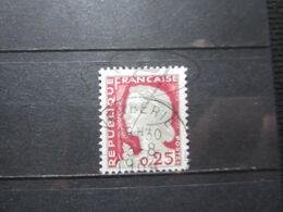 """VEND BEAU TIMBRE DE FRANCE N° 1263 , OBLITERATION """" VERBERIE """" !!! - 1960 Marianne De Decaris"""