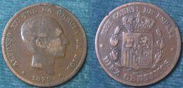 M_p> Spagna 10 Centesimi Diez Centimos 1879 OM - Other