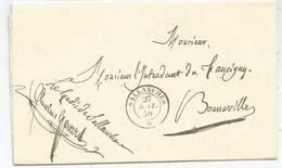 CACHET SARDE HAUTE SAVOIE SALLANCHES 27 MAI 1850 LETTRE + FRANCHISE LE SYNDIC GAVARD - 1849-1876: Periodo Clásico