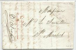 MARQUE  SARDE SAVOIE ST JEAN 1840 LETTRE FRANCHISE ROUGE L'INTENDANT DE LA PROVINCE DE MAURIENNE POUR ST MICHEL - 1801-1848: Precursores XIX