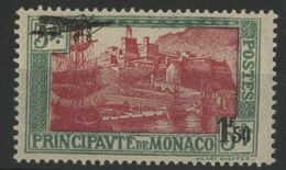 MONACO POSTE AERIENNE N° 1  1933 COTE 75 € NEUF ** MNH  1Fr 50 Sur 5 Fr Vert Et Rose-lilas - Posta Aerea