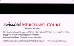 SINGAPORE KEY HOTEL  Swissotel Merchant Court Singapore - Grüezi - Hotelsleutels (kaarten)